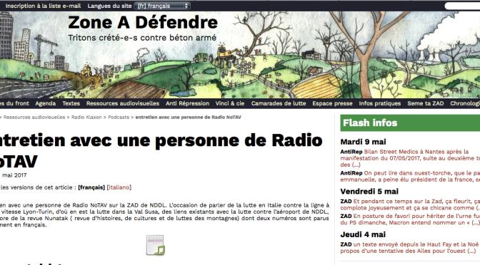 La ZAD :  intervista a un redattore di Radio Notav