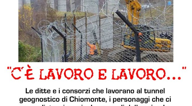 Sciopero dei lavoratori del cantiere di Chiomonte
