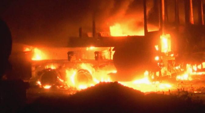 mapuche incendio mezzi forestali otto arresti per terrorismo